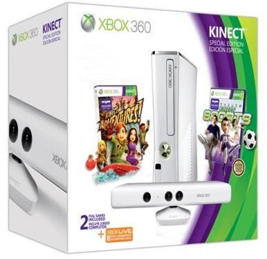 Konsola Xbox 360 White Slim 320 Gb Kinect Gry X360 Nor Bit